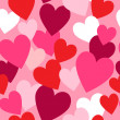 Stock Photo: Valentine hearts seamless pattern