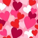 Valentine hearts seamless pattern — Stock Photo