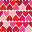 Valentine hearts seamless pattern — Foto Stock