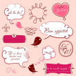 Speech bubbles set in French style - Foto Stock