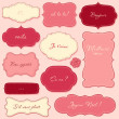 Vintage Valentine Frames - Stock Photo
