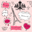 Doodle frames in French style - Stock Photo