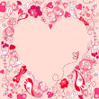 Folk floral heart — Stock Photo