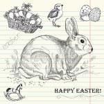 Vintage Easter rabbit — Stock Photo