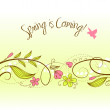 Beautiful floral background — Stock Photo