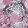 Art Deco Flower seamless pattern - Stock Photo