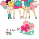 zakupy dziewczyny — Zdjęcie stockowe