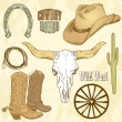 Stock Photo: Wild West Set