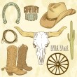 Wild West Set — Stock Photo