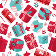 Retro Christmas Gift boxes. - Stock Photo
