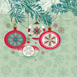 Retro Christmas Ornaments — Stockfoto
