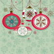 Retro Christmas Ornaments - Stockfoto