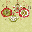 Retro Christmas Ornaments — Stock Photo #9412554