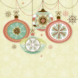 Retro Christmas Ornaments — Stock Photo