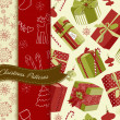 Royalty-Free Stock Photo: Set of Retro Christmas patterns