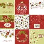 Set of Christmas Cards — Stock Photo