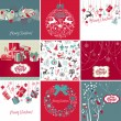 Foto de Stock  : Set of Christmas Cards