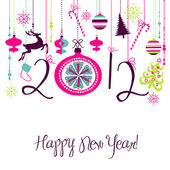 2012 Happy New Year background. — 图库照片