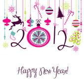 Tło szczęśliwy nowy rok 2012. — Zdjęcie stockowe