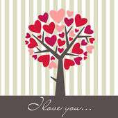 Valentine Love Tree — Stock Photo