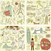 Our wonderful collections of hand drawn doodles — Stock Photo
