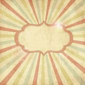 Vintage template, colored sun burst background. — Stock Photo