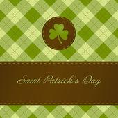 Saint patricks dag kaart — Stockfoto