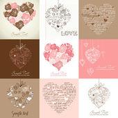 Cartões com coração — Foto Stock