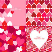 Vector set of Valentines seamless pattern — Stock fotografie