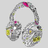 Música doodles — Foto Stock
