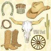 Sada divoký západ — Stock fotografie