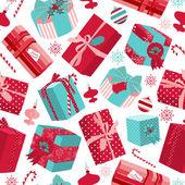 Retro Christmas Gift boxes. — Stock Photo