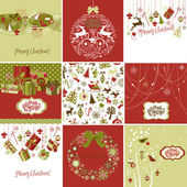 Set of Christmas Cards — Stock Photo