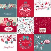 Set of Christmas Cards — Stockfoto