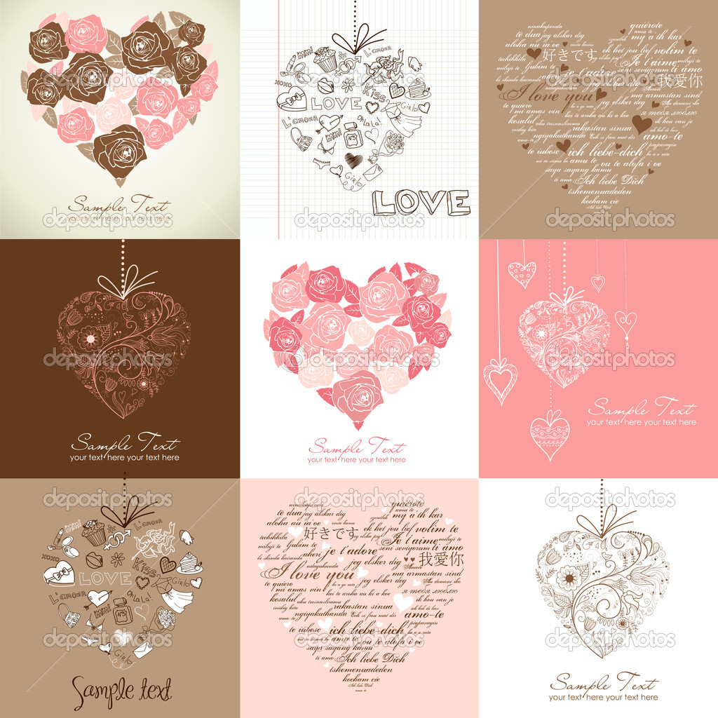 Greeting cards with heart — Stock Photo #9411771