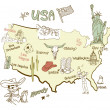 Stylized map of America. — Stock Photo