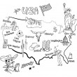 Royalty-Free Stock Photo: Stylized map of America.