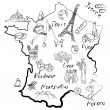 Stock Photo: Stylized map of France.