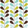 Retro style, seamless leaf pattern - Stock Photo