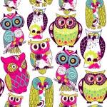 Eamless owl pattern. — Stock Photo