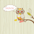 "Stock Photo: ""Owl miss you"" card"