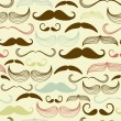 A Gentlemen&#039;s Club. Mustache seamless pattern - Stock Photo
