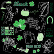 Saint Patrick's Day doodles — Stock Photo