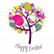 Easter Card with tree, eggs and birds — Stock Photo #9481969