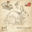 Vintage Easter rabbit - Foto de Stock  
