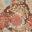 Art Deco Flower seamless pattern — Stock Photo