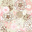Retro floral seamless background.  — Stock Photo