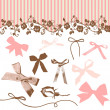 Stock Photo: French Bows and Roses
