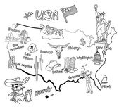 Stylized map of America. — Photo