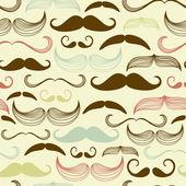 Um clube de cavalheiros. bigode padrão sem emenda — Foto Stock